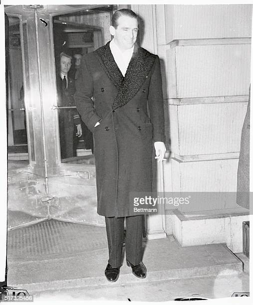 Douglas Fairbanks Jr is shown as he appeared at the RitzCarlton Hotel when socialite Brenda Frazier was feted in her spectacular debut