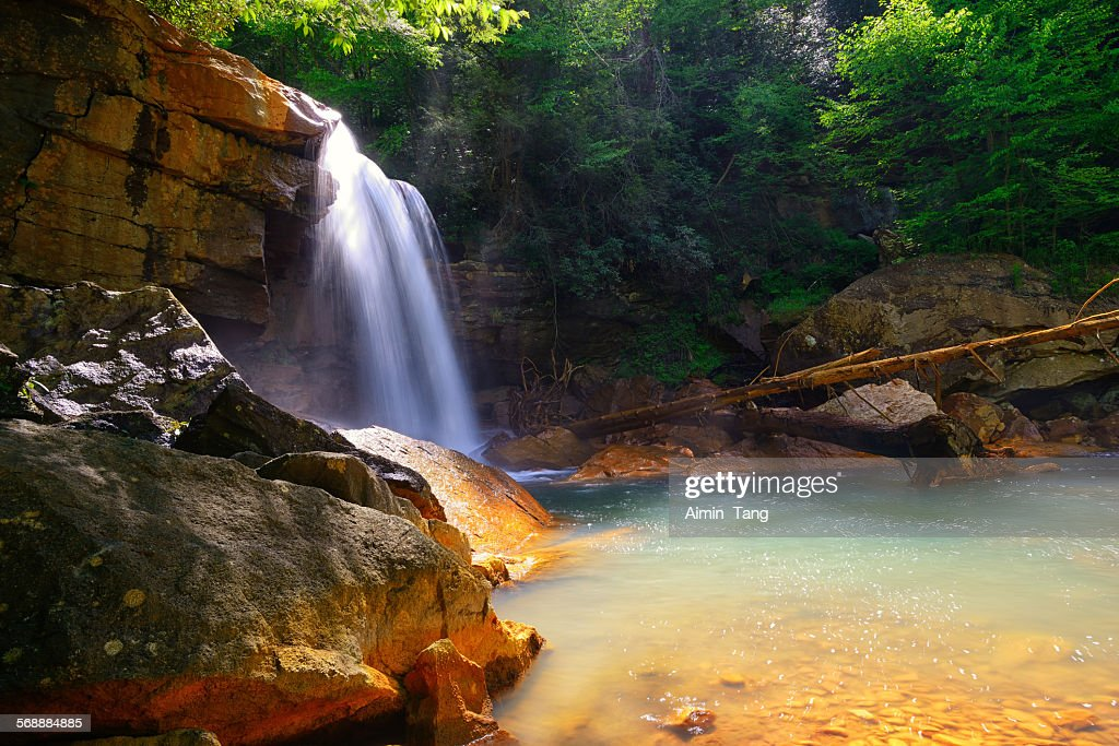 Douglas Falls in West Virginia : Stock Photo