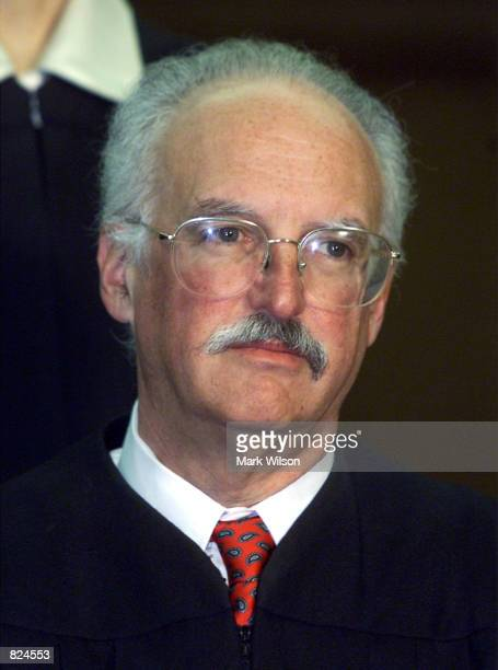 Douglas Ginsburg, one of seven Judges hearing arguments in United States v. Microsoft Corporation in the U.S. Court of Appeals, poses for a photo...