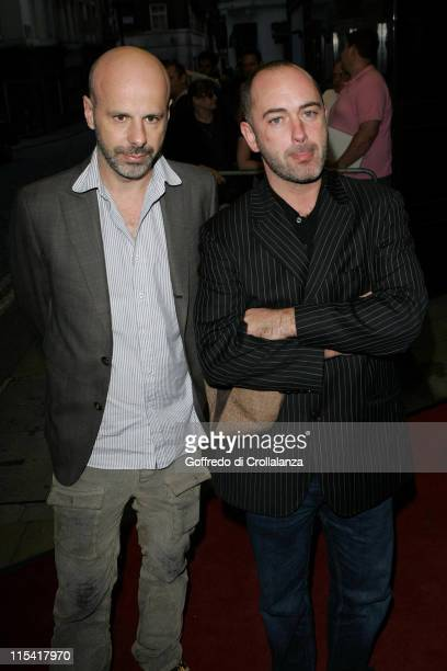 "Douglas Gordon and Philippe Parreno during ""Zidane: A 21st Century Portrait"" - London Film Premiere - Arrivals at Curzon Mayfair in London, Great..."