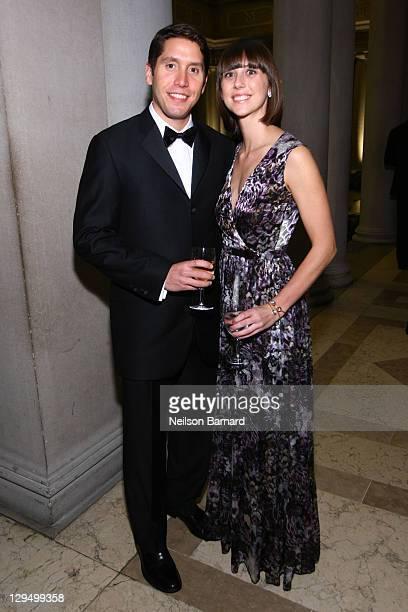 Douglas Gould and Pauline M Eveillard attend the 2011 Frick Collection Autumn Dinner Honoring Anne L Poulet at The Frick Collection on October 17...