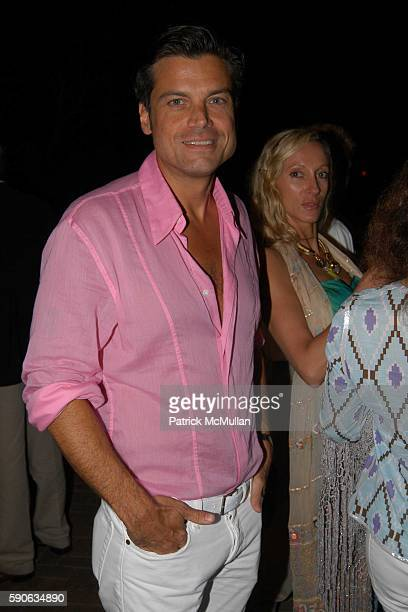 Douglas Hannant attends Dinner Party Following IN HER ARMS Premiere at Nello on July 17 2005 in Southampton NY