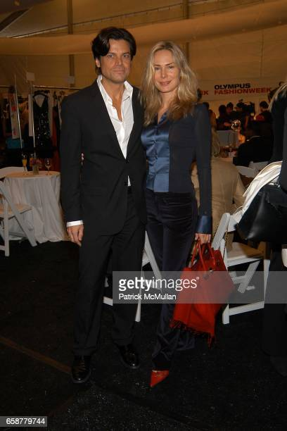 Douglas Hannant Valesca Guerrand Hermes attend Douglas Hannant Champagne Breakfast prior to his Fashion Show at the Promenade in Bryant Park on...