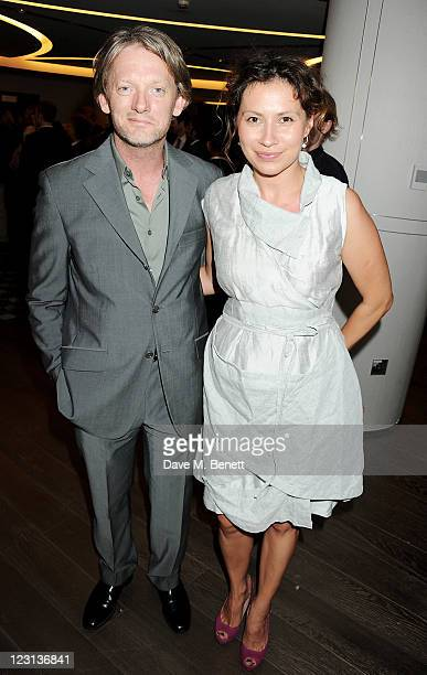 Douglas Henshall and Tena Stivicic attend the launch of The French Laundry popup restaurant at Harrods on August 31 2011 in London England