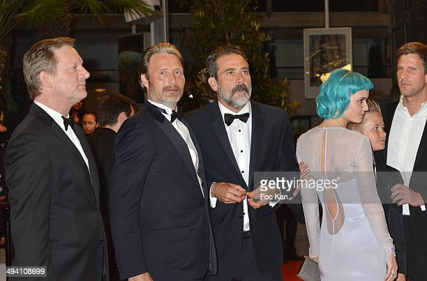 Douglas Henshall Mads Mikkelsen and Jeffrey Dean Morgan Oh Land actor Toke Lars Bjarke attend the 'The Salvation' premiere during the 67th Annual...