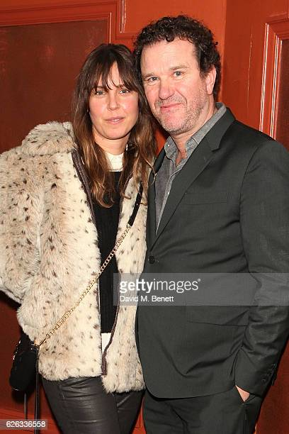 Douglas Hodge and Amanda Miller attend an after party celebrating the gala concert performance of 'New Songs 4 New Shows' presented by The Stable at...