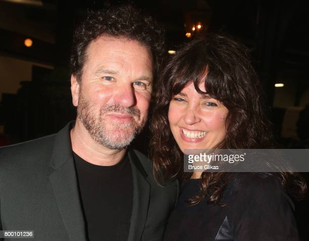 Douglas Hodge and Amanda Miller pose at the opening night party for 1984 on Broadway at The Lighthouse at Chelsea Piers on June 22 2017 in New York...