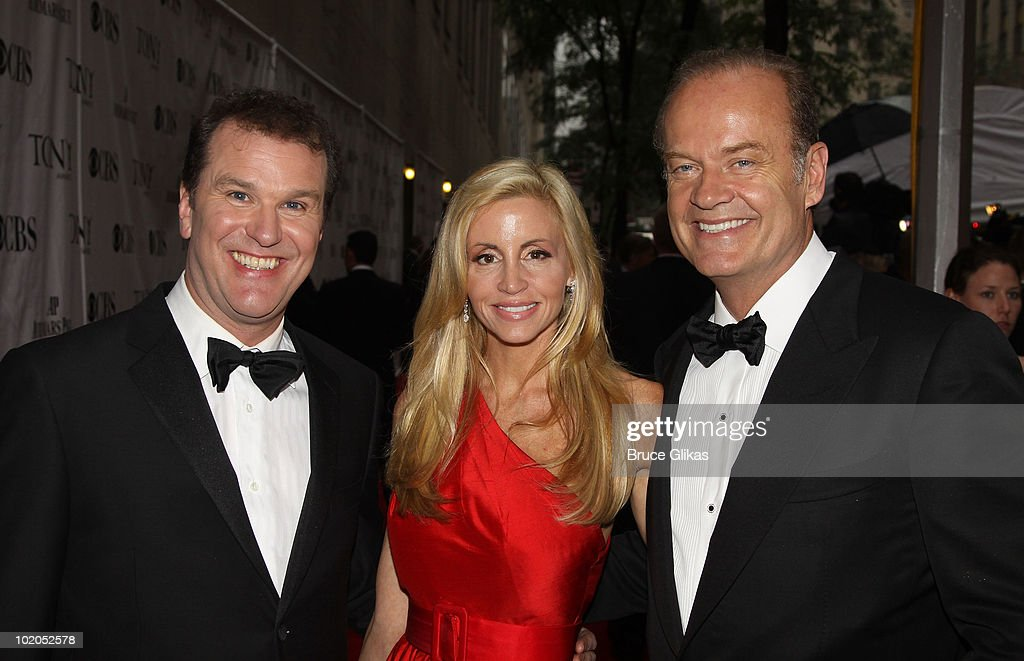 Douglas Hodge, Camille Grammer, and Kelsey Grammer attend the 64th Annual Tony Awards at Radio City Music Hall on June 13, 2010 in New York City.
