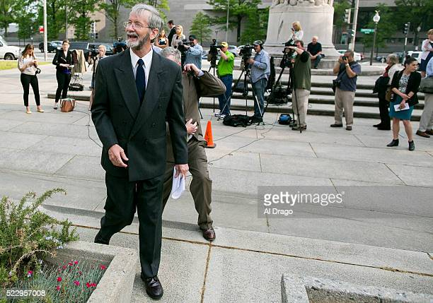 STATES APRIL 21 Douglas Hughes finishes speaking with reporters at the Federal Courthouse after his sentencing in Washington Thursday April 21 2016...