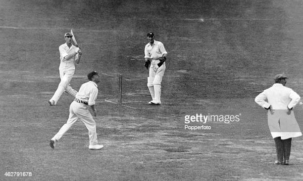 Douglas Jardine batting for Surrey during the final County Championship match of the season against Middlesex at Lord's cricket ground in London,...