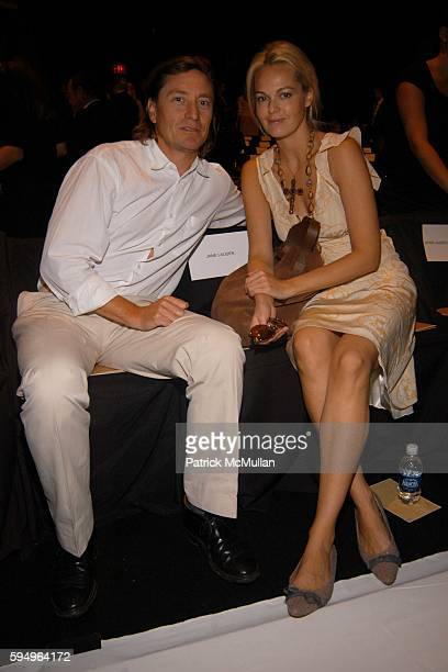 Douglas Keeve and Lauren Dupont attend Michael Kors Spring 2006 Collection at The Tent at Bryant Park on September 14 2005 in New York City