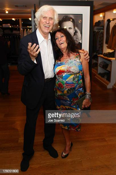 Douglas Kirkland and wife Francoise attend the Douglas Kirkland Photo Exhibition Celebrating 180 Years Of Woolrich at Ron Herman Melrose on October...