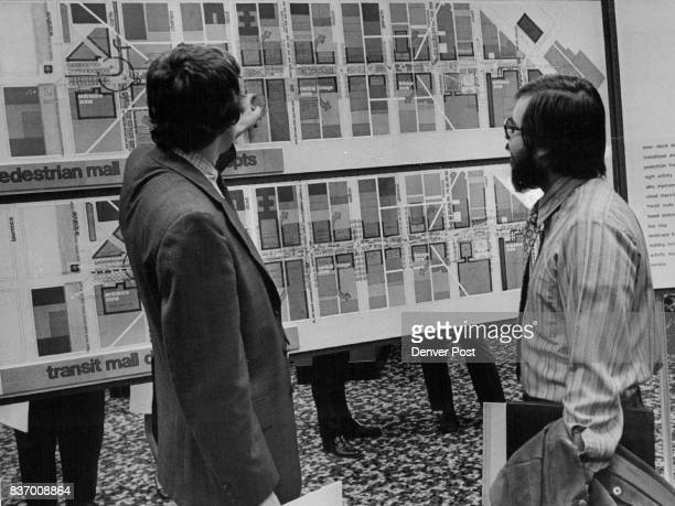 Douglas Knop left of the Denver Urban Renewal Authority Staff receives briefing on the 16th Street mall Credit Denver Post