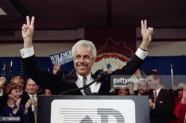 Douglas L Wilder governorelect first black US state leader