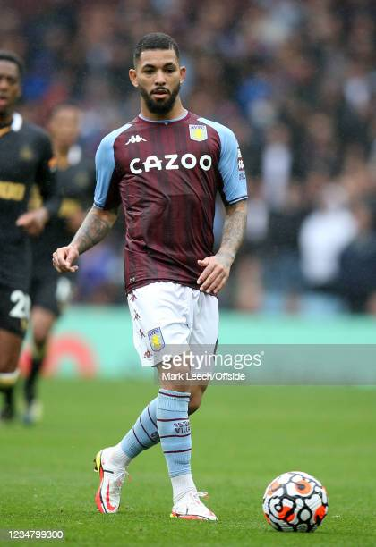 Douglas Luiz of Aston Villa during the Premier League match between Aston Villa and Newcastle United at Villa Park on August 21, 2021 in Birmingham,...