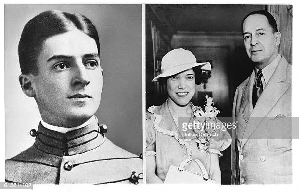 Douglas MacArthur as a West Point cadet ca 1905 and with his bride Jean Faircloth after their wedding in 1937 General MacArthur commanded US Army...