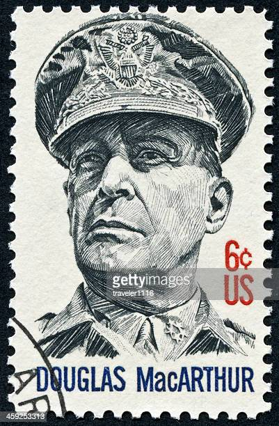 douglas macarthur stamp - general macarthur stock pictures, royalty-free photos & images