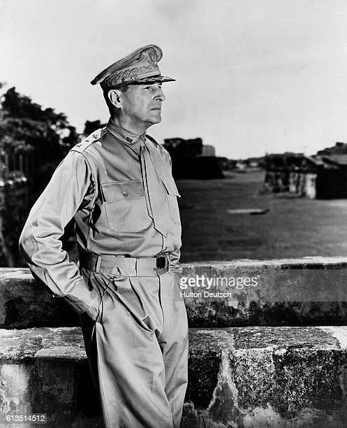 Douglas MacArthur the US Army general and commander of Allied forces in the Pacific arrives in Australia during World War II