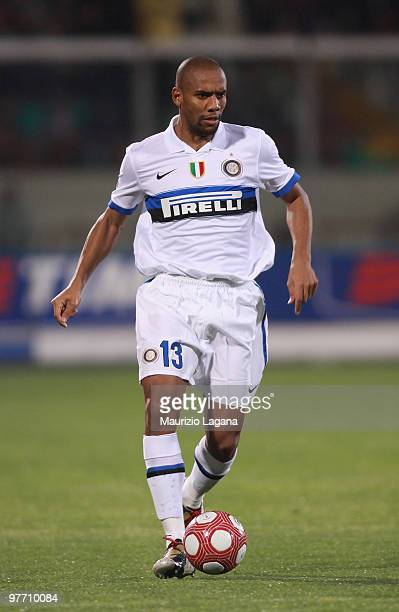 Douglas Maicon of FC Internazionale Milano is shown in action during the Serie A match between Catania Calcio and FC Internazionale Milano at Stadio...