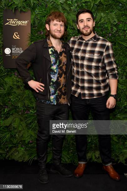 Douglas McMaster and Fernando Monzou attends the official Ron Zacapa rum opening event of The World Restaurant Awards 2019 at Malro on February 17th...
