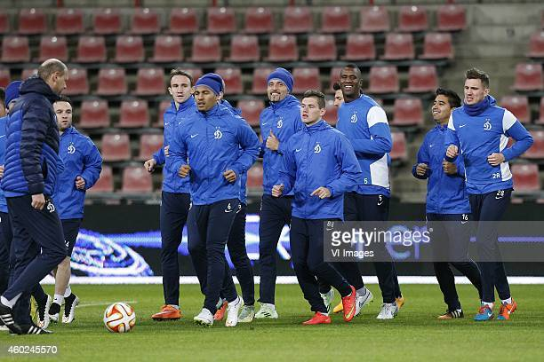 Douglas of Dinamo Moscow during a training session of Dinamo Moscow prior to the Europa League match between PSV Eindhoven and Dinamo Moscow on...