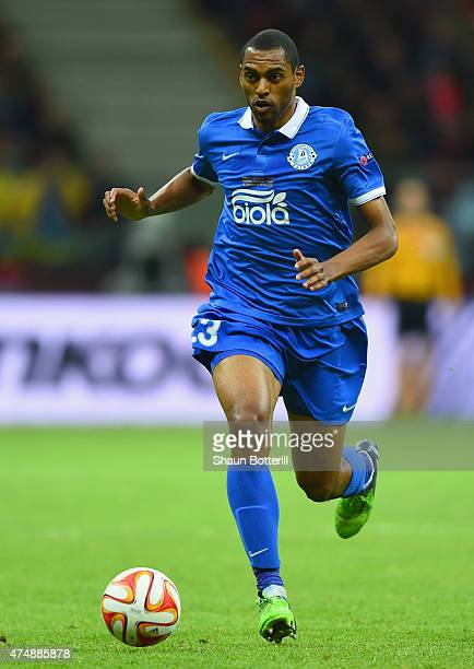 Douglas of Dnipro in action during the UEFA Europa League Final match between FC Dnipro Dnipropetrovsk and FC Sevilla on May 27 2015 in Warsaw Poland