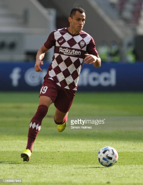 Douglas of Vissel Kobe on the ball during the AFC Champions League Round of 16 match between Vissel Kobe and Shanghai SIPG at the Khalifa...