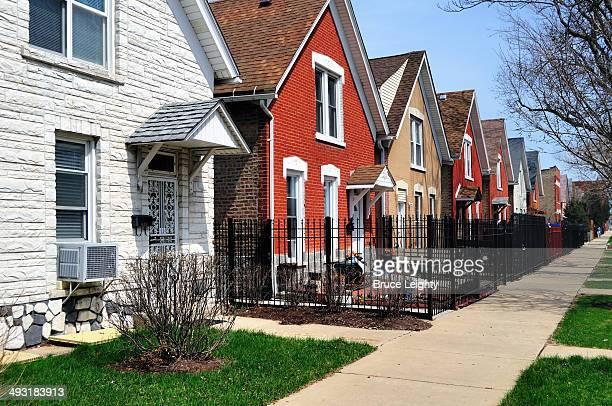 douglas park houses - cook county illinois stock photos and pictures