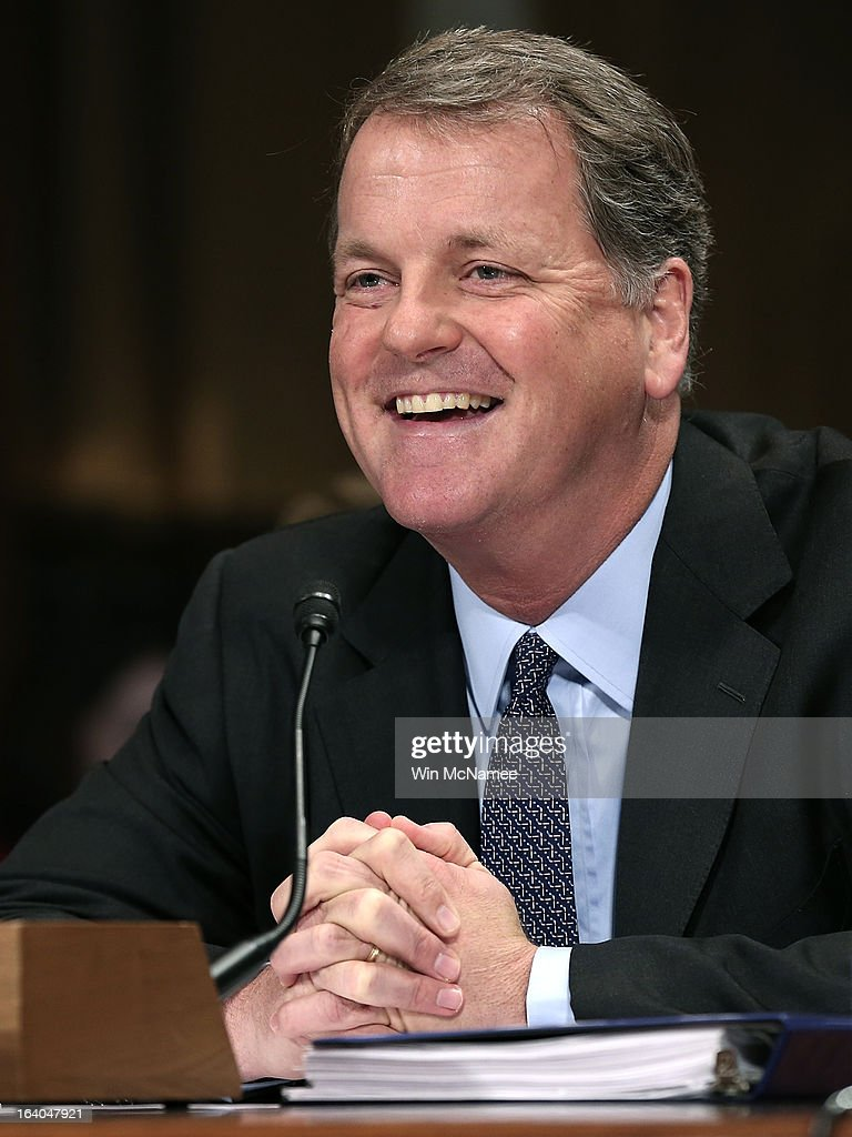 Douglas Parker, chairman and CEO of the US Airways Group testifies during a hearing of the Senate Judiciary Committee on Capitol Hill March 19, 2013 in Washington, DC. Parker and Horton testified before the committee on the topic of 'The American Airlines/US Airways Merger: Consolidation, Competition, and Consumers.'