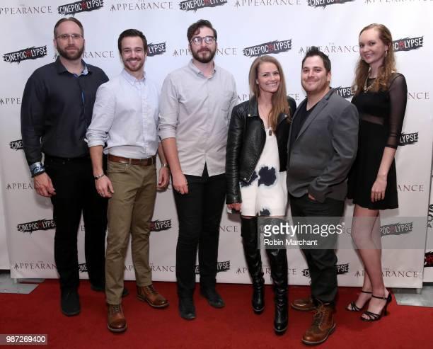 Douglas Pasko Jake Stormoen Benjamin Allred Lauren Spalding Kurt Knight and Baylee Self attend The Appearance Movie Premiere At Cinepocalypse at...