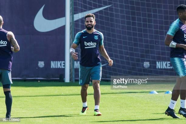Douglas Pereira from Brasil of FC Barcelona during the first FC Barcelona training session of the 2018/2019 La Liga pre season in Ciutat Esportiva...