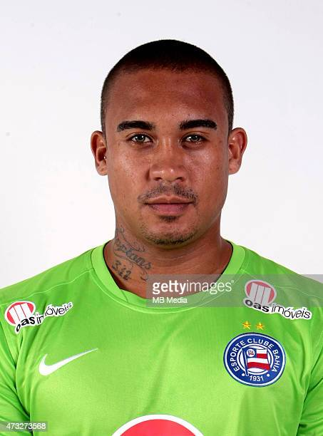 Douglas Pires of Esporte Clube Bahia poses during a portrait session August 14 2014 in SalvadorBrazil
