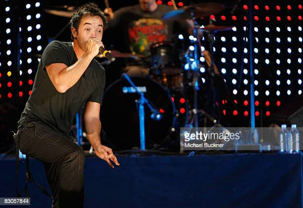 Douglas Robb of Hoobastank performs at the Wiltern on September 29 2008 in Los Angeles California