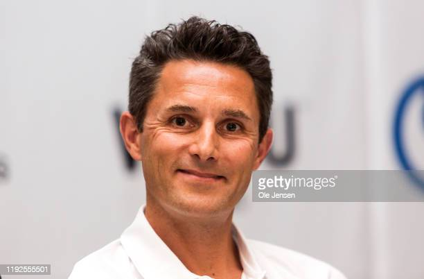 Douglas Ryder founder of the South African NTT Pro Cycling team seen at a press conference where it was announced that Danish cycling icon Bjarne...