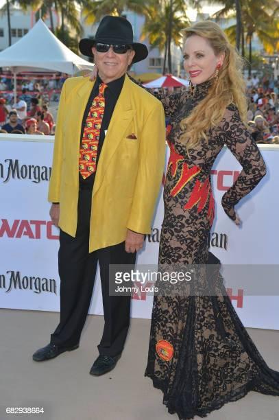 Douglas Schwartz and Deborah Schwartz attend Paramount Pictures' World Premiere of 'Baywatch' on May 13 2017 in Miami Beach Florida