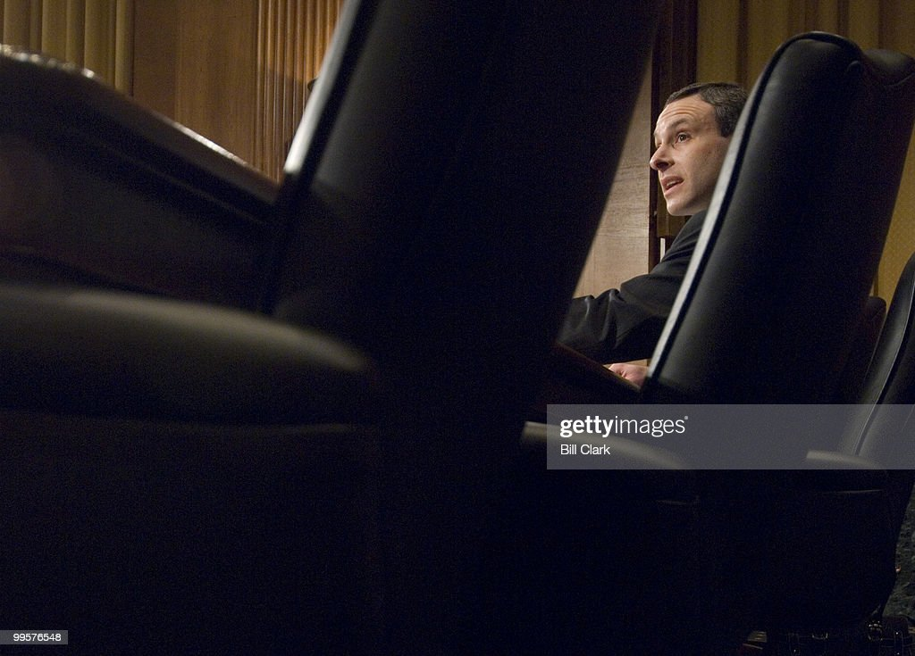 Douglas Shulman, nominee to be commissioner of Internal Revenue, testifies during his Senate Finance Committee confirmation hearing on Tuesday, Jan. 29, 2008.