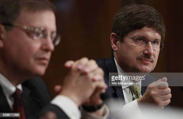 Douglas Throckmorton deputy director of regulatory programs at the Food and Drug Administration testifies before the Senate Homeland Security and...