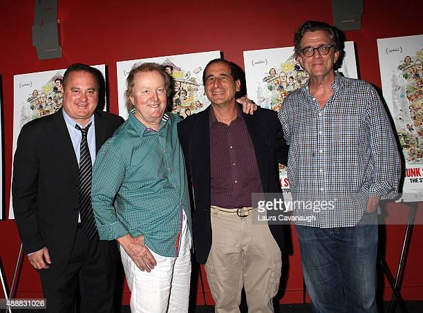Douglas Tirola Tony Hendra Mike Reiss and Kurt Anderson attend the Drunk Stone Brilliant Dead New York Premiere at Sunshine Landmark on September 17...
