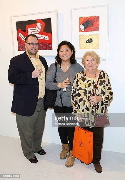 Douglas Welch Helen Cho and Maria Perez attend 'love art give a smile' Art Fashion And Design Benefit at Clen Gallery on December 5 2013 in New York...