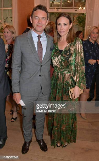 Dougray Scott and Claire Forlani attend a dinner hosted by Skye Gyngell and the Trustees of Action on Addiction to celebrate Addiction Awareness Week...