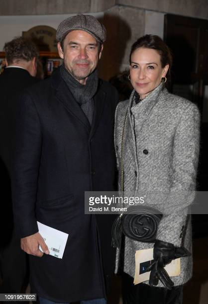 Dougray Scott and Claire Forlani attend Animal Requiem A Concert To Celebrate Honour All Animals by Rachel Fuller at St James' Church on January 31...