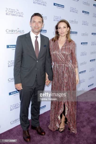 Dougray Scott and Claire Forlani attend the 18th annual Chrysalis Butterfly Ball on June 01 2019 in Brentwood California