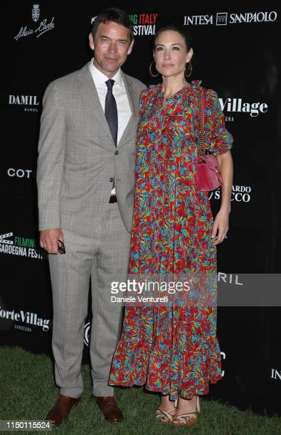 Dougray Scott and Claire Forlani attend the Filming Italy Sardegna Festival 2019 Day 2 at Forte Village Resort on June 14 2019 in Cagliari Italy