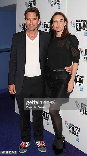 Dougray Scott and Claire Forlani attend the 'London Town' screening during the 60th BFI London Film Festival at Haymarket Cinema on October 11 2016...
