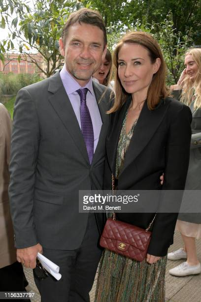 Dougray Scott and Claire Forlani attend The Sunday Times AA Gill Award for emerging food critics at The River Cafe on June 16 2019 in London England