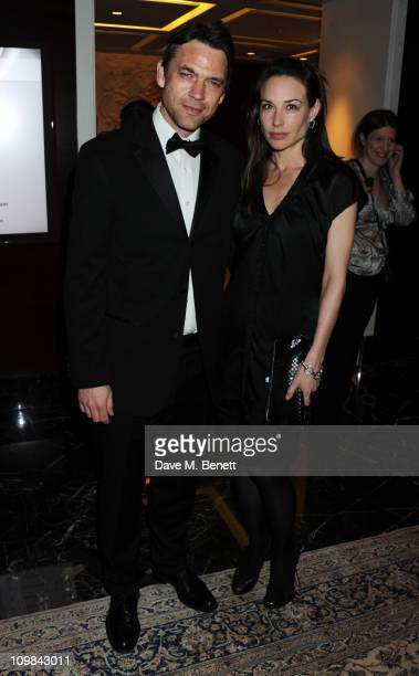 Dougray Scott and Claire Forlani attend the Who's Cooking Dinner charity event in aid of leukaemia charity Leukaon at the Four Seasons Hotel on March...