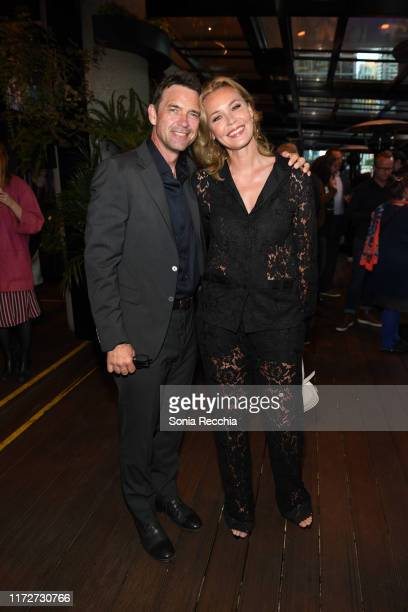 Dougray Scott and Connie Nielsen attend prescreening cocktail reception for the world premiere film Sea Fever at Pick 6ix Sports on September 05 2019...