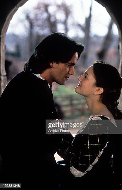 Dougray Scott and Drew Barrymore looking into each other's eyes in a scene from the film 'Ever After A Cinderella Story' 1998