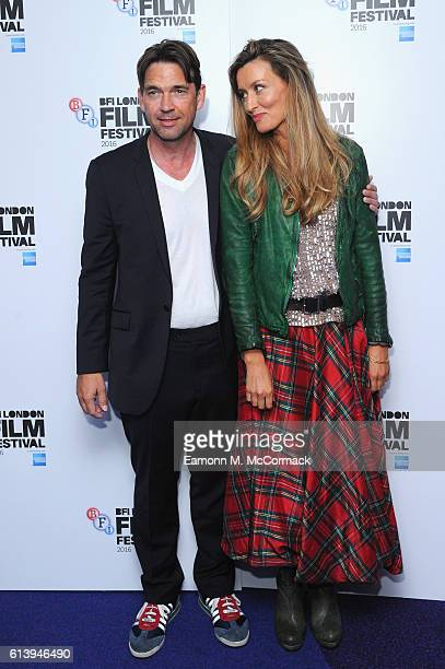 Dougray Scott and Natascha McElhone attend the 'London Town' screening during the 60th BFI London Film Festival at Haymarket Cinema on October 11...