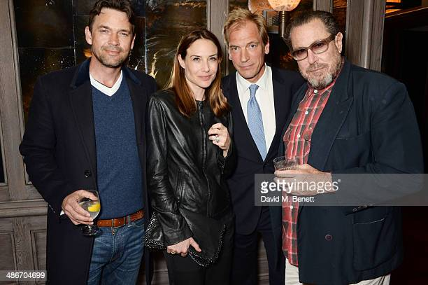 Dougray Scott Claire Forlani Julian Sands and Julian Schnabel attend an exclusive dinner hosted by Charles Finch Mulberry and PORTER Magazine for...